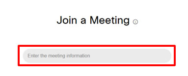 WebEx Browser Meeting Id
