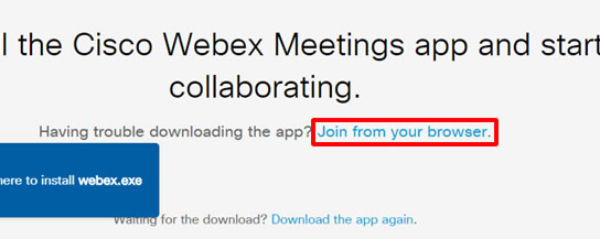 WebEx Join From Browser